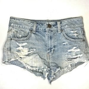 American Eagle Distressed Shorts | fringe | sz 00